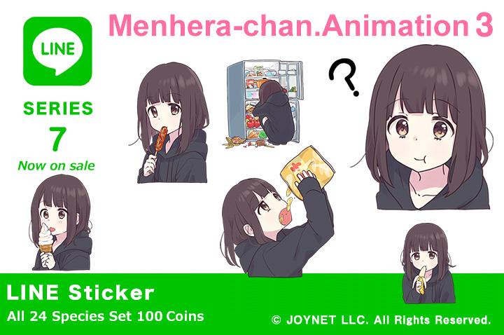 """LINE Sticker """"Menhera-chan.Animation3 EN"""" Now on sale!"""